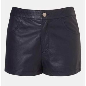 Topshop Faux Leather Shorts